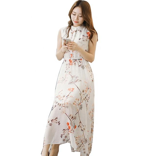 11f8c03ce19 2019 Новое шифоновое платье летнее платье с принтом платье без рукавов для  детей