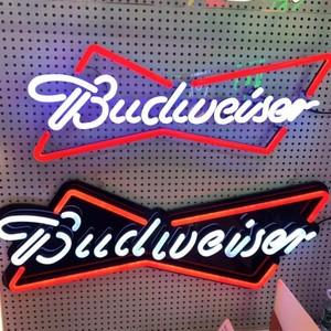 Custom acrylic neon flex lights led advertising budweiser neon sign