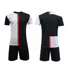 Nieuwkomers Man Shirt Zwart Wit Club <span class=keywords><strong>Voetbal</strong></span> <span class=keywords><strong>Jersey</strong></span> 2019/20