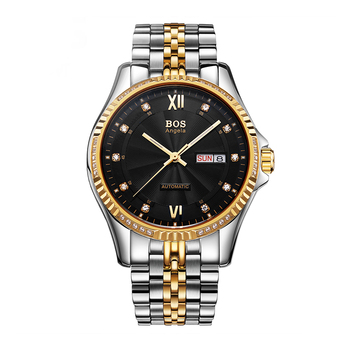 Automatic mechanical watch ANGELA BOS watch waterproof luminous fashion men's watch hollow perspective recruitment OEM