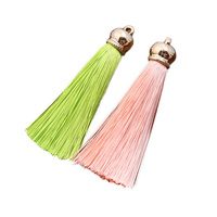 Wholesale Colorful Metal Caps Tassel For Decoration