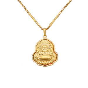 Xuping imitation jewellery dubai 24K real gold plated religious flame laugh Buddha charms pendant, pendant
