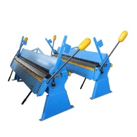 Quality sheet hand Mechanical folder machine small manual sheet metal box and pan bending machine