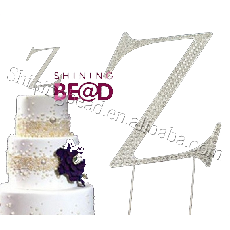 Romantic Easy Cake Decorating Different Letters With Clear Rhinestone Cake Topper Letter X Cake Topper