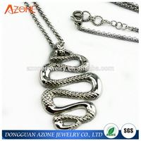 Customized Casting Silver OEM Stainless Steel Snake Pendant Jewelry