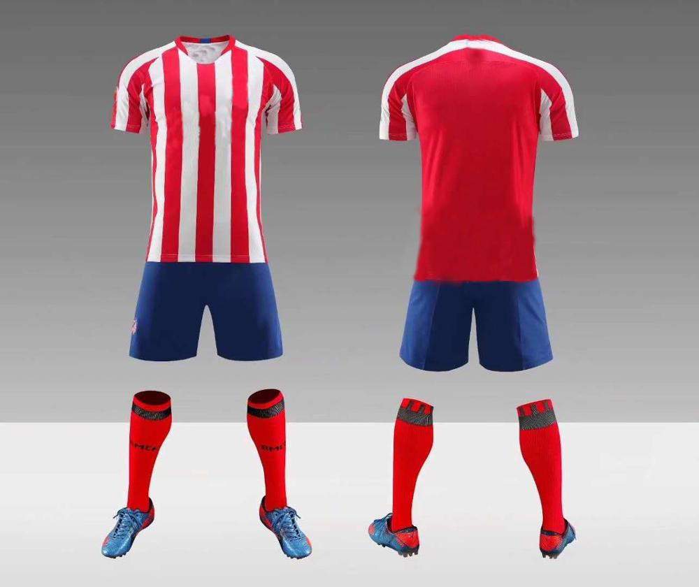 huge selection of 1068e 359c9 Free Shipping 2019-2020 New Season Atletico Madrid Club Home Away  Sublimation Custom Soccer Jersey - Buy 2019-2020 New Season Atletico Madrid  ...