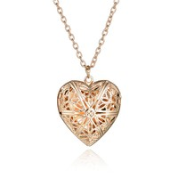 Hollow Heart Pendant Necklaces Fashion Jewelry Heart Collares Geometric Charm Necklace NS812271