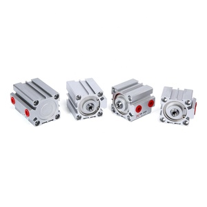 SNS SDA Series aluminum alloy double acting thin type pneumatic standard compact air cylinder