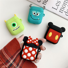 Cartoon pooh bluetooth wireless headset set AirPod-silica gel protective sleeve new idea drop