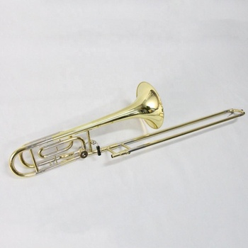 Best Chinese OEM Woodwind Wind instrument Color Slide Yellow Brass Bell Cupronickel Side Gold Lacquer Bb / F Tone Tenor Trombone