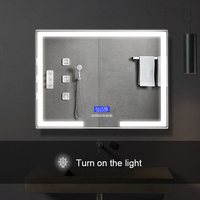 Magic Smart bluetooth illuminated mirror bathroom led mirror with clock display