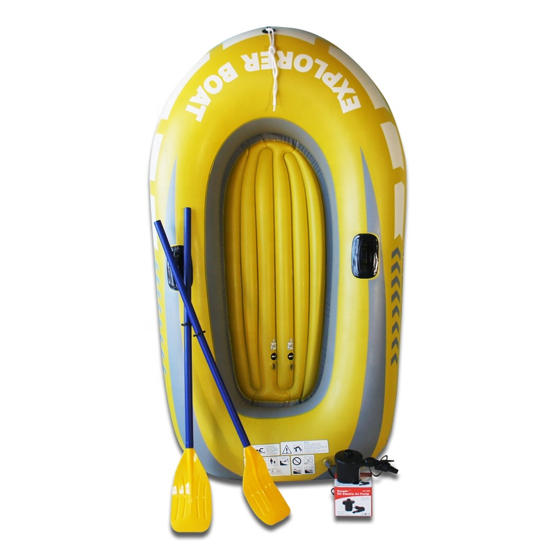 Newest Lightweight PVC Material Rubber Pool Float Tube 2 person Inflatable Fishing Rowing Adventure <strong>Boat</strong> With Paddle