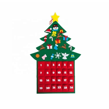 Felt xmas christmas tree decoration ornaments diy supplies advent calendar