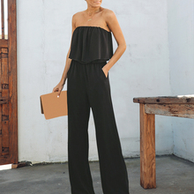 Elegant off shoulder chiffon <span class=keywords><strong>vrouwen</strong></span> lange jumpsuit Sexy wijde pijpen casual jumpsuit romper Solid zomer casual <span class=keywords><strong>overalls</strong></span> 2019