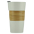400ml/14oz ceramic drink cup  travel tumbler coffee to go with bamboo sleeve