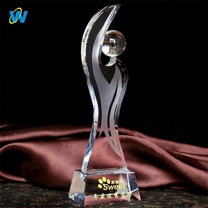 Hot Sale Business Souvenir cheap competition company reward trophy award crystal