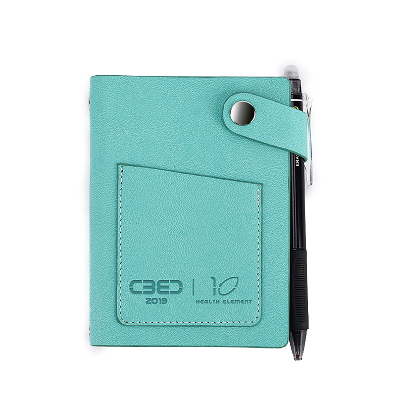 Elfinbook Mini Business Note Small Gift Sets Corporate Leather To do list Note Reusable Erasable Pocket Notebook