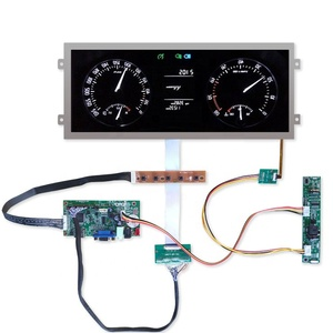 ultra-wide stretched lvds automotive ips lcd display 12 3 inch tft 1920x720  with hdmi control board high brightness 850 cd/m2