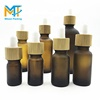 luxury E liquid 5ml 10ml 15ml 20ml 30ml 50ml 100ml amber frosted glass dropper bottle with bamboo lid