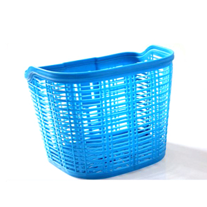 Big Capacity 2016 New Designed Blue Plastic Bicycle Basket