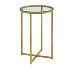 Stainless steel gold metal round side table for diving room decoration