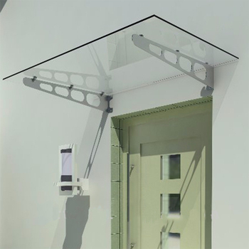 Glass Awning Front Door Canopy With Stainless Steel ...