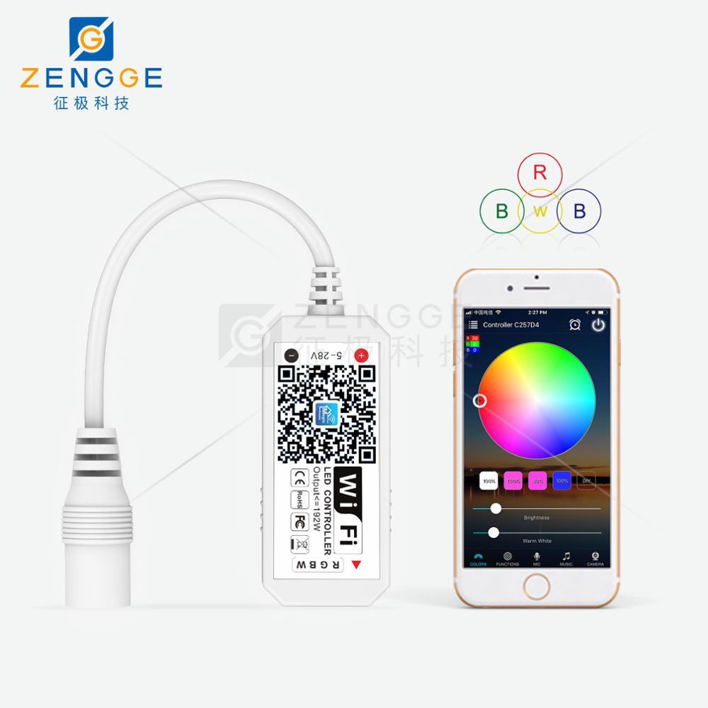 Reliable Led Strip Light Wifi Bluetooth Rgb Rgbw Controller Dc 5v 12v 24v Android Ios App Amazon Alexa Google Magic Home Ir Control