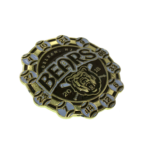 10 years experience in blank metal plaque baseball lion lapel pin