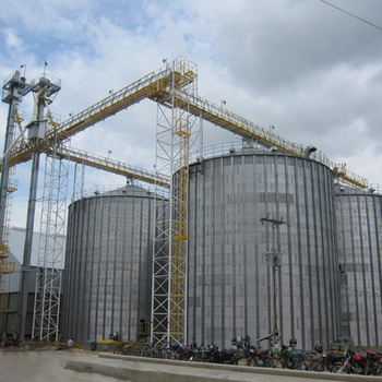 Factory price flat bottom steel grain silo for sale from Shandong