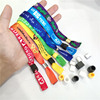 New fashion quality-assured no minimum custom world cup festival party concert event fabric wristbands
