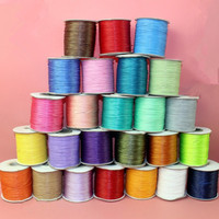 High quality 1mm multicolor round polyester Korea wax cord for jewelry making