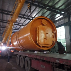Multiple rubber raw materials waste tyre oil refining equipment to get fuel  oil