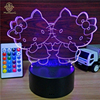 3D Acrylic Illusion Led Night Light Lamp ABS Base USB Power Battery Night Light For Kids