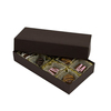 2 Piece Rigid Lid Paper Cardboard Custom Logo Wedding Favor Chocolate Packaging Candy Small Square Gift Box With Ribbon