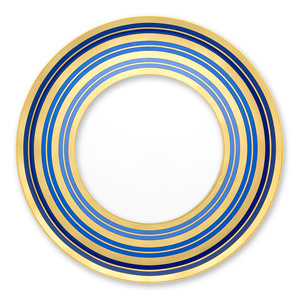 Bulk royal classic bone china charger plate ceramic restaurant gold rim dinner plates