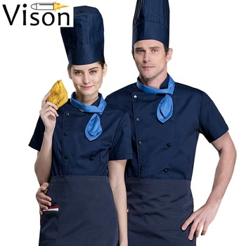 Custom logo sushi restaurant unisex chef coat uniform
