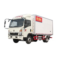China Truck Sino howo 4x2 Transportation Mini Cargo Van Box Truck