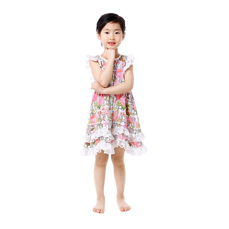 c6c32ae84f5d Оптовая продажа; детская одежда; платье для девочек; Двухслойное кружевное  платье-туника с