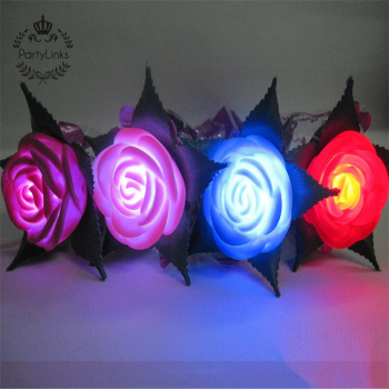 Popular Led Roses With Stems For Valentine's Day Single Led Rose Flower