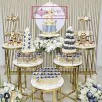 Wedding stage decoration stainless steel wedding backdrops wedding supplies for take photo