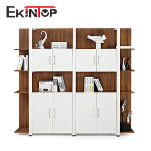 Ekintop combination wood book cabinet bookcase and specification