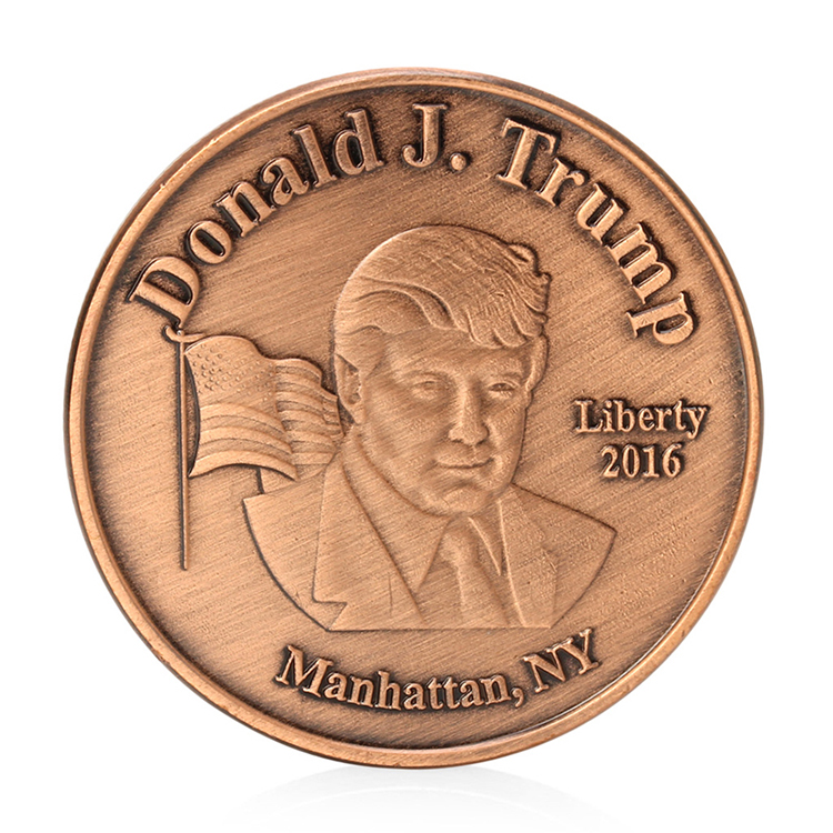 Antiga Donald Trump 45th EUA Presidente Moeda Token Moeda de Bronze do Metal Fabricante