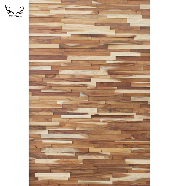 Solid wood decorative wall covering panels 3D wall panels