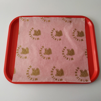 High world food grade custom printed greaseproof fast food wrapping waxed paper