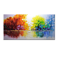 beautiful natural scenery 3d wall art picture knife canvas oil painting
