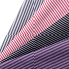 Made in china soft men's suit garment textile cloth striped stretch cotton polyester fabric