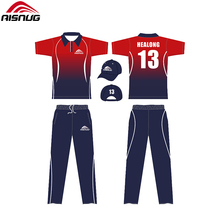 Benutzerdefinierte sublimation cricket team full cricket kit design uniformen