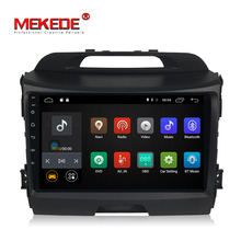 MEKEDE <span class=keywords><strong>SIM</strong></span> 4G android 8,1 quad core android reproductor de dvd del coche para KIA sportage 2011-2015 2 + 16 gb wifi gps mirrorring BT SWC