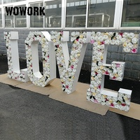 2019 WOWORK giant big 4ft flower floral LOVE letters alphabet engagement wedding decoration props