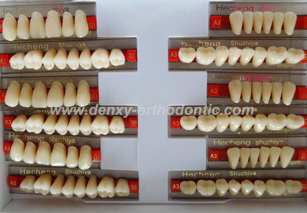 3-layers Yellow Denture Dental Acrylic Synthetic Resin Teeth